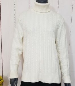 Eddie Bauer cable knit turtleneck sweater XL